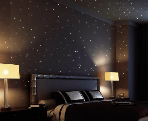 wandtattoo loft sternenhimmel 350 fluoreszierende. Black Bedroom Furniture Sets. Home Design Ideas