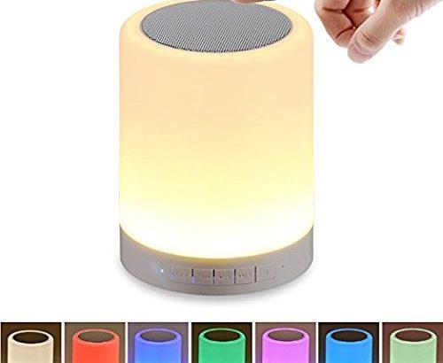 hfmorning led nachtlichter nachtlicht kinder 7 farben dimmbar nachttischlampe mit bluetooth. Black Bedroom Furniture Sets. Home Design Ideas