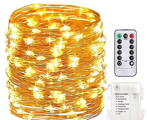 gdealer 10m 100er led lichterkette 8 modi au enbeleuchtung batteriebetrieben kupferdraht. Black Bedroom Furniture Sets. Home Design Ideas