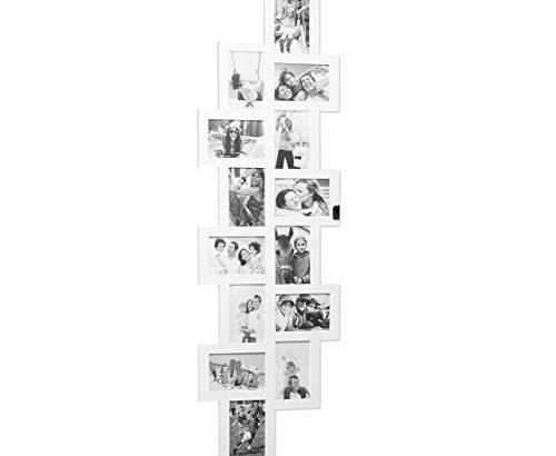 relaxdays bilderrahmen 14 bilder plastik wei 1 5 x 36 x 118 cm meibuin. Black Bedroom Furniture Sets. Home Design Ideas