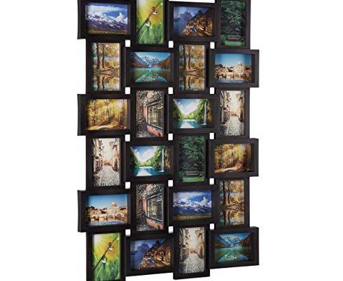 relaxdays bilderrahmen f r 24 fotos fotorahmen zum h ngen fotocollage selbst gestalten hbt. Black Bedroom Furniture Sets. Home Design Ideas