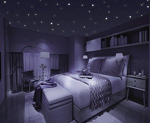 homery sternenhimmel 300 leuchtpunkte selbstklebend mit starker leuchtkraft fluoreszierende. Black Bedroom Furniture Sets. Home Design Ideas