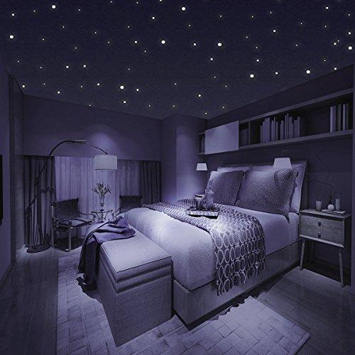 Homery Sternenhimmel 300 Leuchtpunkte selbstklebend mit starker ...