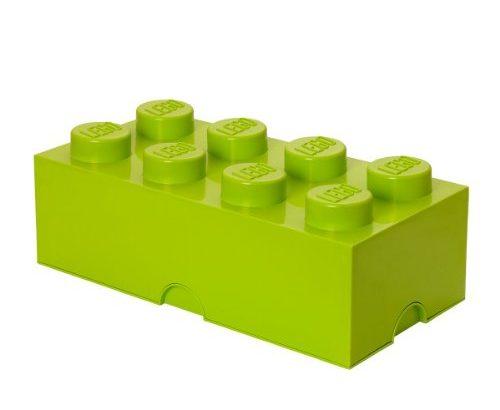 lego aufbewahrungsstein 8 noppen stapelbare aufbewahrungsbox 12 l lindgr n meibuin. Black Bedroom Furniture Sets. Home Design Ideas