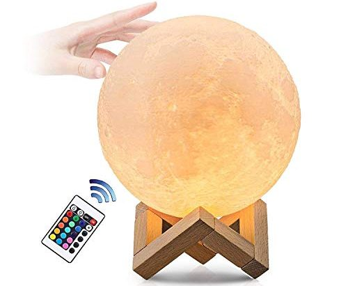 mondlicht lampe 12cm mond lampe mit remote touch control 3d mond kunst mondlicht achtlicht mit. Black Bedroom Furniture Sets. Home Design Ideas