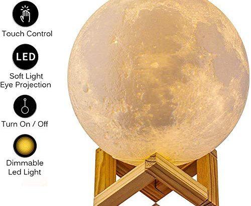 agm mond lampe dimmbar led mond nachtlicht stimmungslicht 15cm 3d druck nachtlampe mit. Black Bedroom Furniture Sets. Home Design Ideas