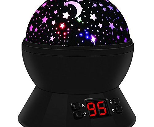 sternenhimmel projektor kinder lampe led nachtlicht rotierend mit 4led birnen 8 licht modus. Black Bedroom Furniture Sets. Home Design Ideas