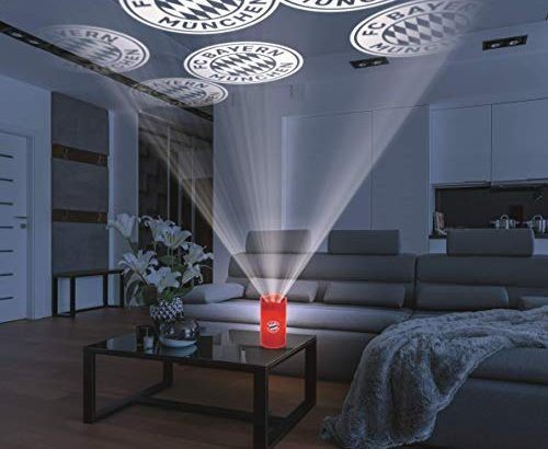 fc bayern m nchen motiv projektor haus fcb logo led. Black Bedroom Furniture Sets. Home Design Ideas