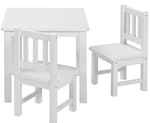 BOMI Kindertisch Mit 2 Stühlen Amy