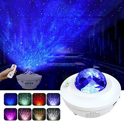 LED Projektor Sternenhimmel Lampe Bluetooth mit Fernbedienung Starry Stern Mond